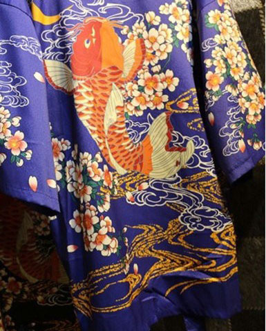 Yukata carpe koi design japonais la boutique du japon for Carpe koi rare