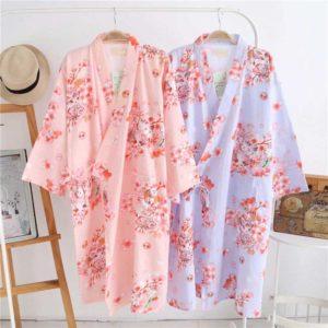 Yukata pijama petits chats kawaii