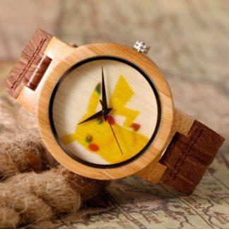Montre Pikachu Bamboo Cuir (3)