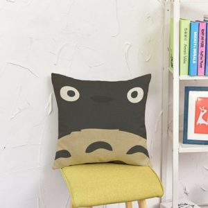 Taie d'oreiller visage de Totoro 45-45cm