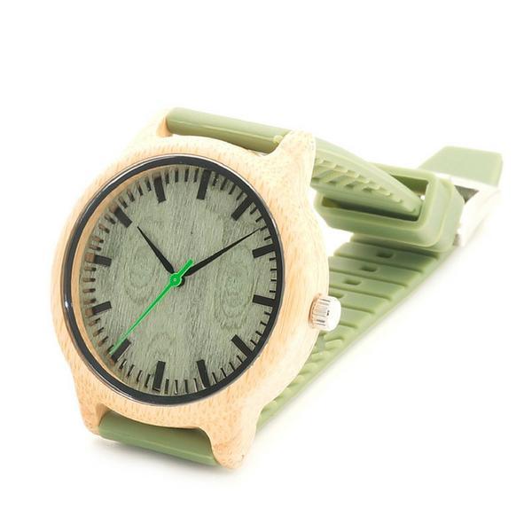 Montre en bambou avec bracelet en silicone la boutique - Avec quel produit enlever du silicone ...