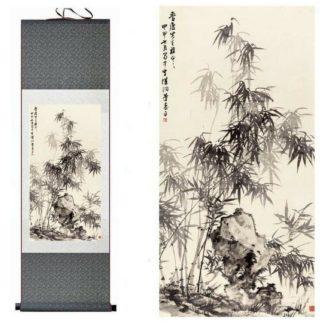 Rouleau de décoration bambou vert