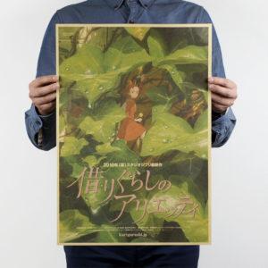 Arrietty affiche poster papier craft