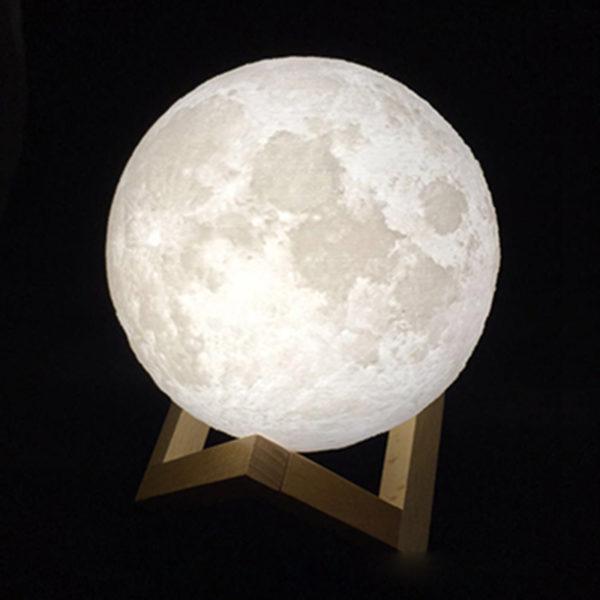 Lampe lunaire blanche