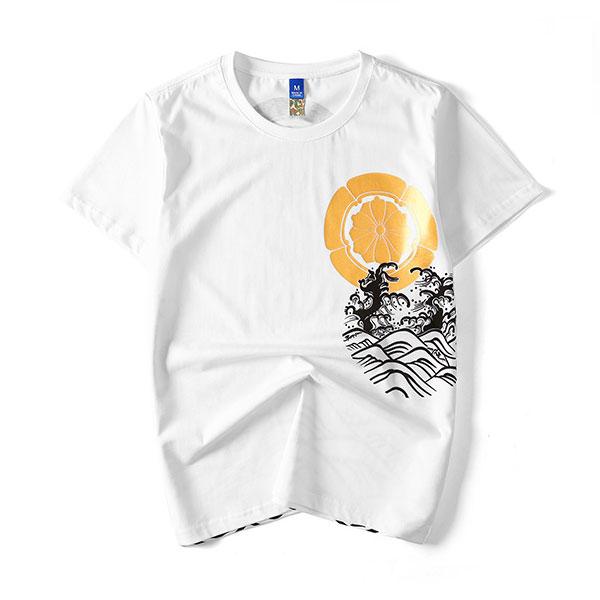 tee shirt style ukyoe saut de carpe sur art japonais la boutique du japon. Black Bedroom Furniture Sets. Home Design Ideas