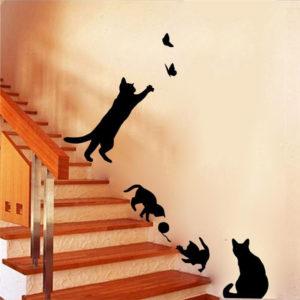 Autocollant mural jeu de chat (5)