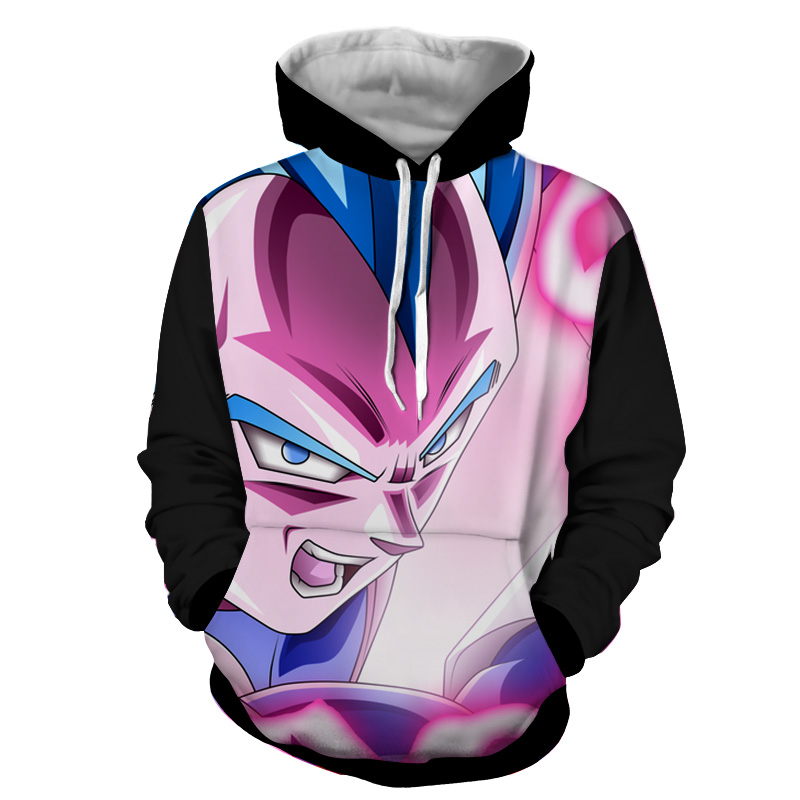 Hoodie Dragon Ball Dark Vegeta attaque