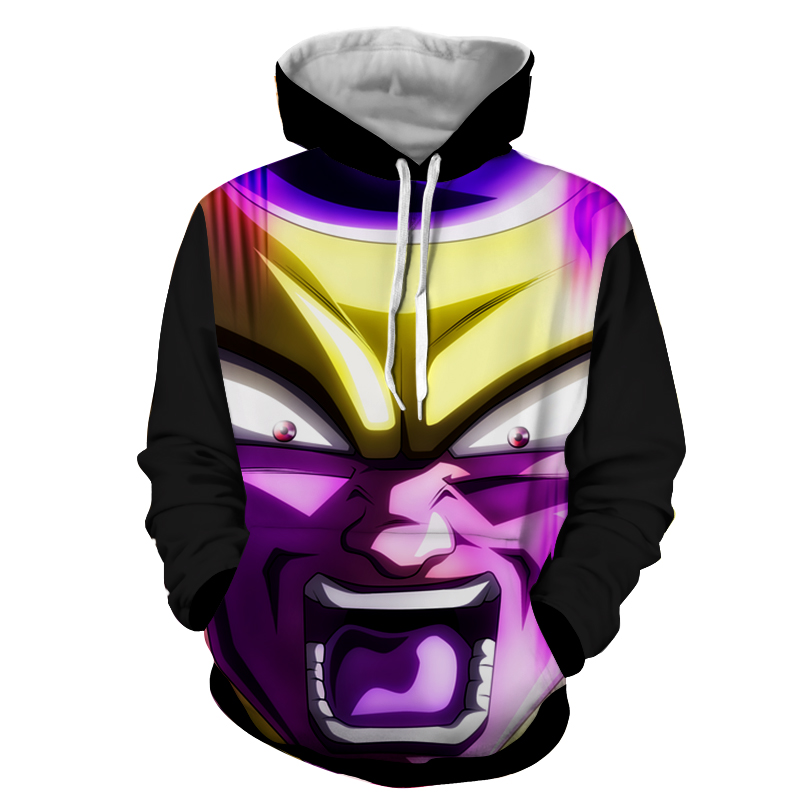 Hoodie Dragon Ball Dark Golden Freezer furie