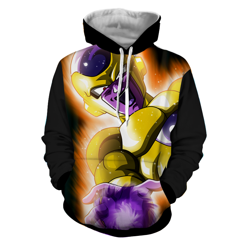 Hoodie Dragon Ball Dark Golden Freezer attaque
