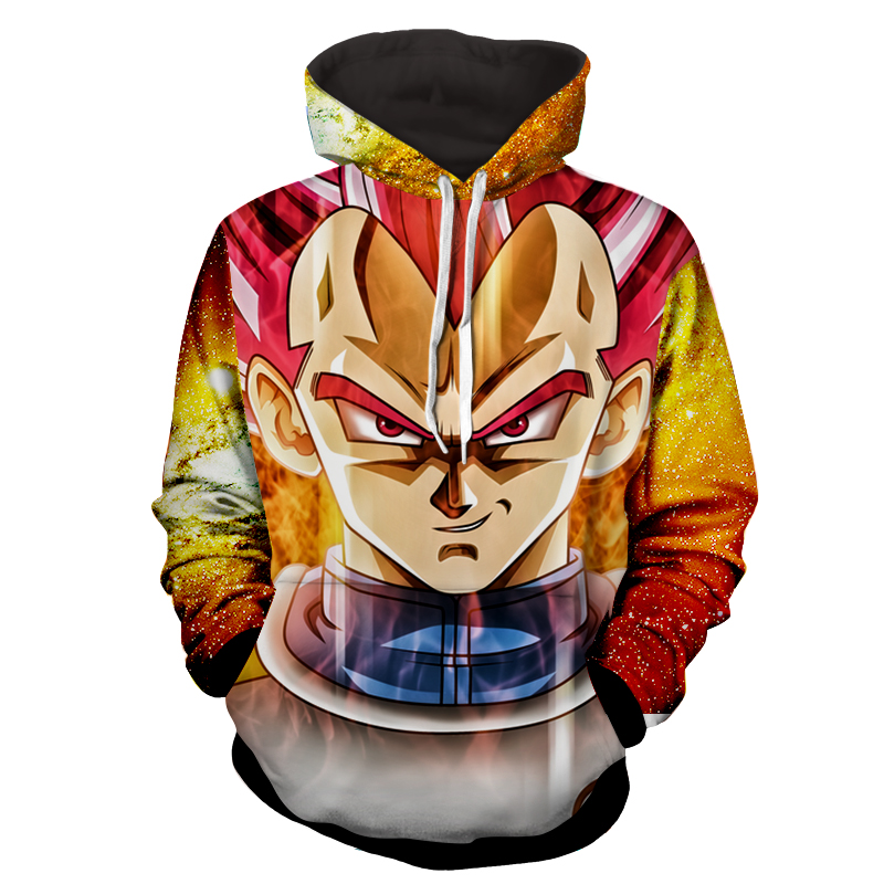 Hoodie Dragon Ball cosmos Vegeta God Révélation
