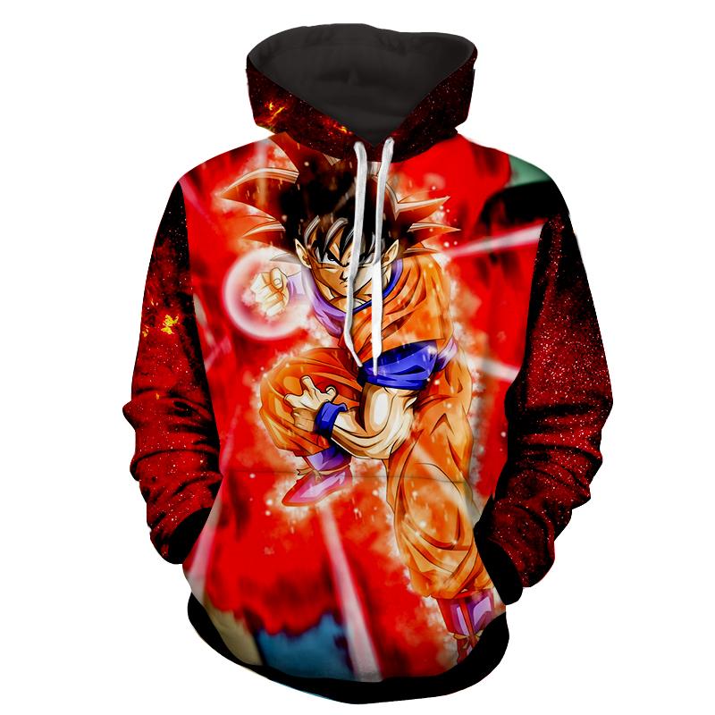 Hoodie Dragon Ball cosmos San Goku God Kamehameha explosion