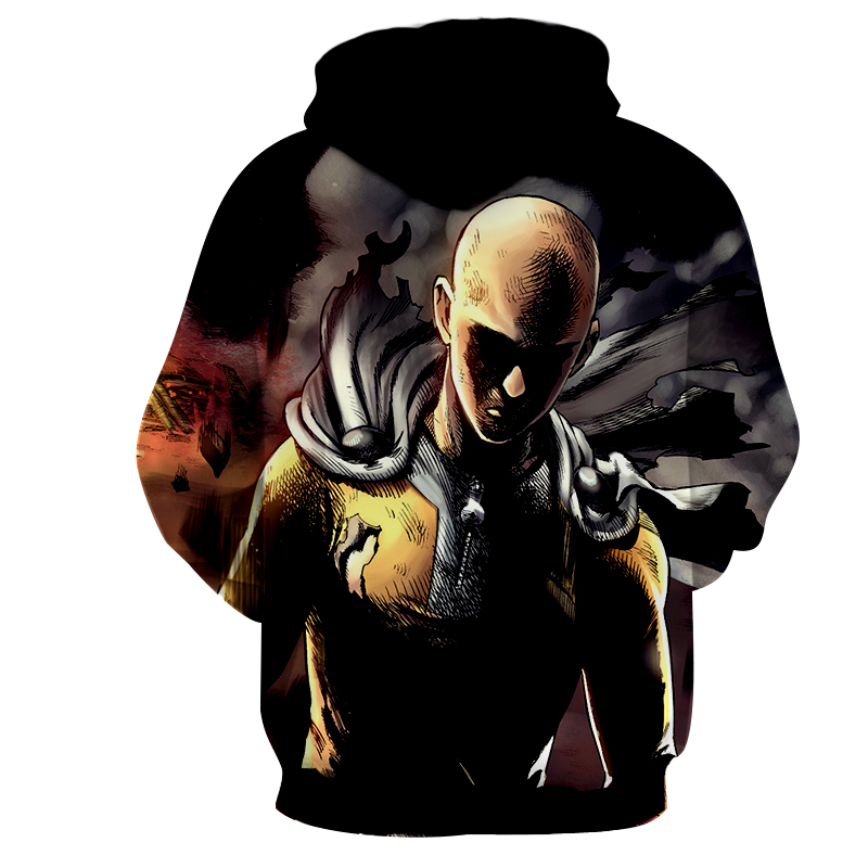 Hoodie One Punch Man Colère dos