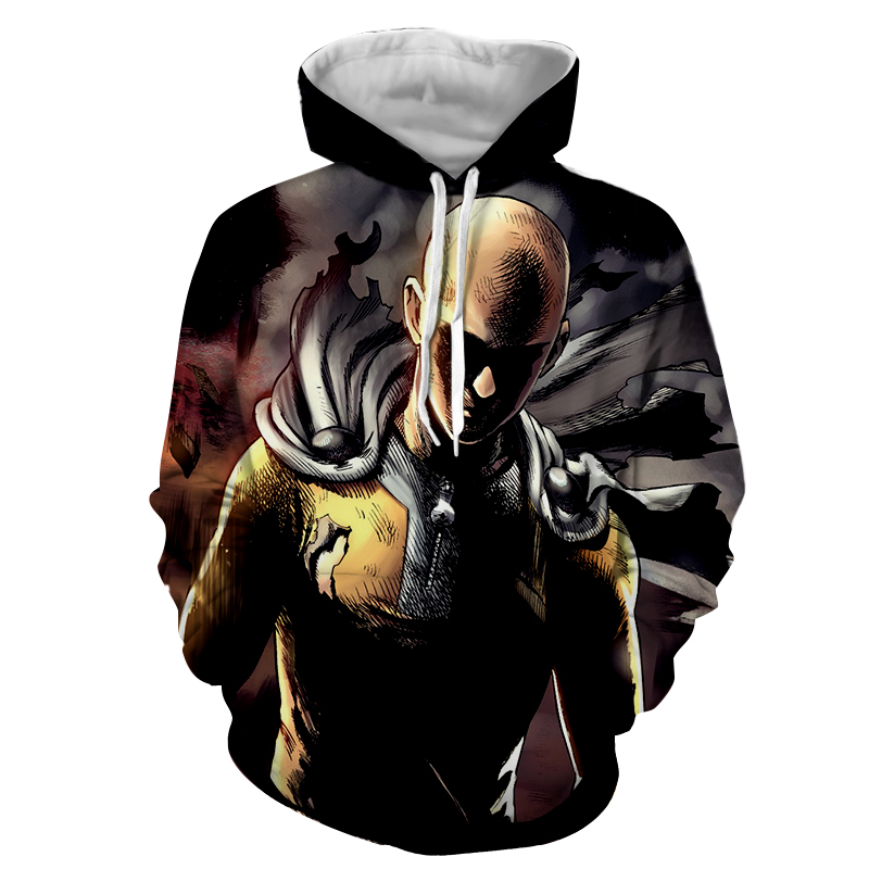 Hoodie One Punch Man Colère
