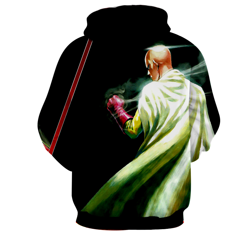 Hoodie One Punch Man Justicier dos