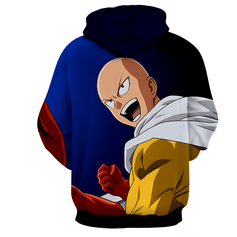 Hoodie One Punch Man nouvelle mission dos
