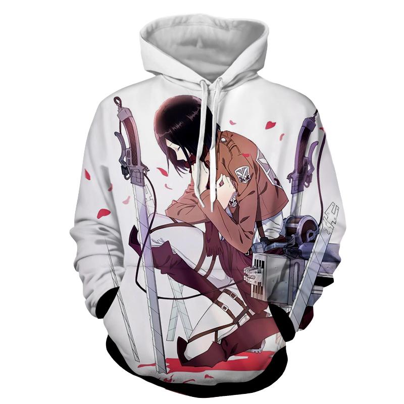 Hoodie Attaque des titans Deuil de Mikasa