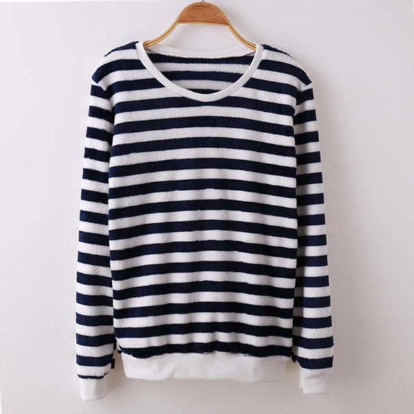 Pull flanelle marin