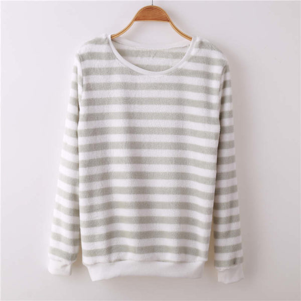 Pull flanelle marin gris