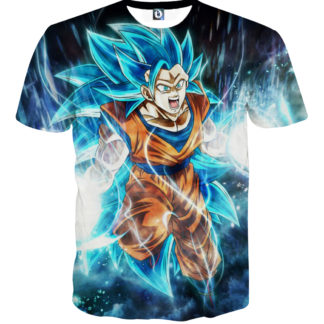 Tee shirt Dragon Ball San Goku Super Saiyan 6 début