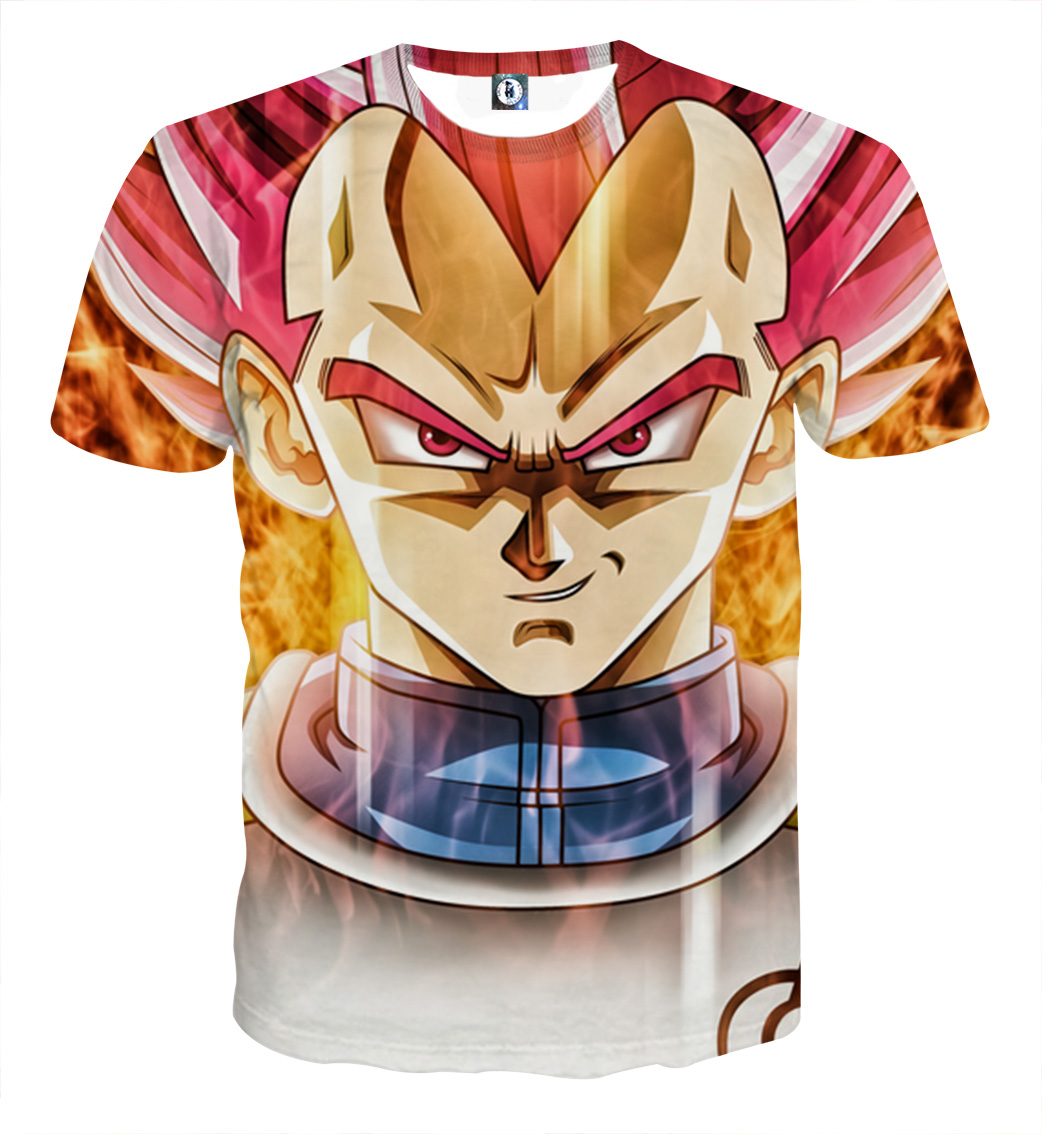 Tee shirt Dragon Ball Vegeta God Révélation