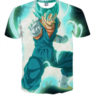 Tee shirt Dragon Ball San Goku God garde