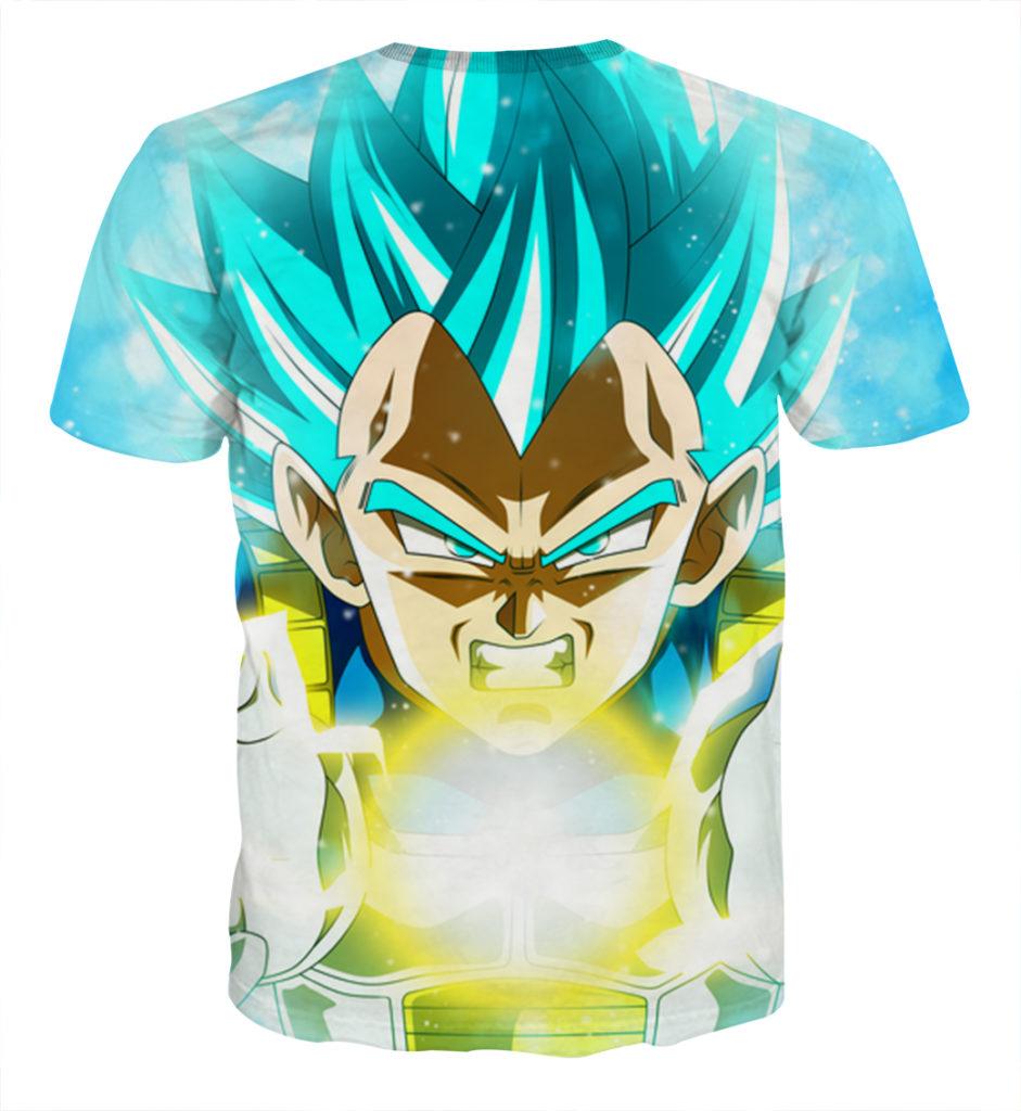 Tee shirt Dragon Ball Vegeta God Final dos