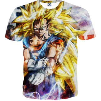 Tee shirt Dragon Ball San Goku Super Saiyan 3 plus