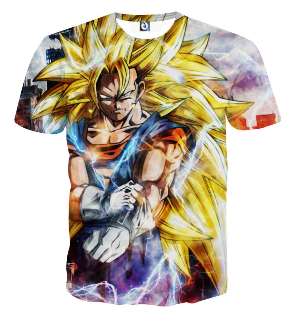 Tee shirt Dragon Ball San Goku Super Saiyan 3 plus