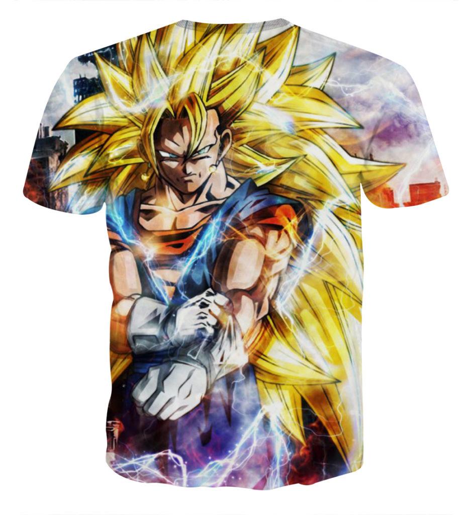 Tee shirt Dragon Ball San Goku Super Saiyan 3 plus dos
