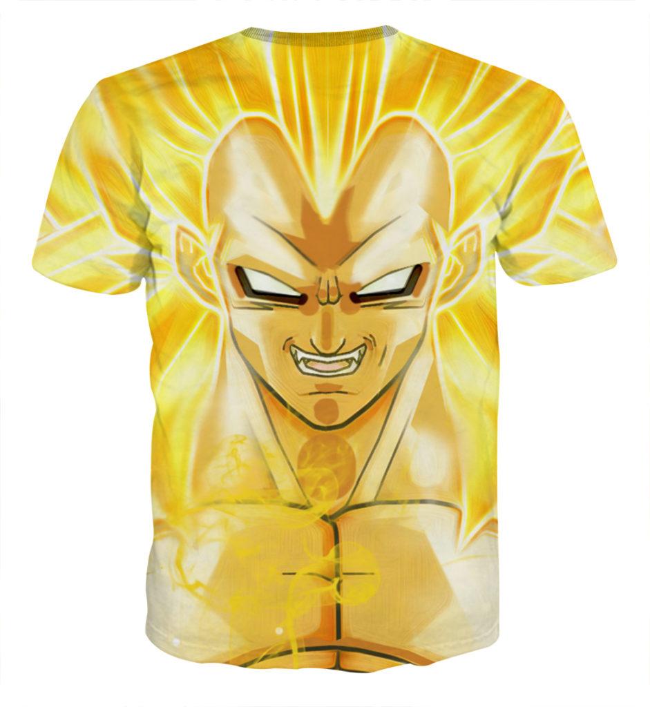 Tee shirt Dragon Ball Vegeta super saiyan 3 dos