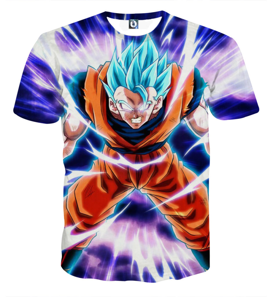Tee shirt Dragon Ball San Goku God Puissance