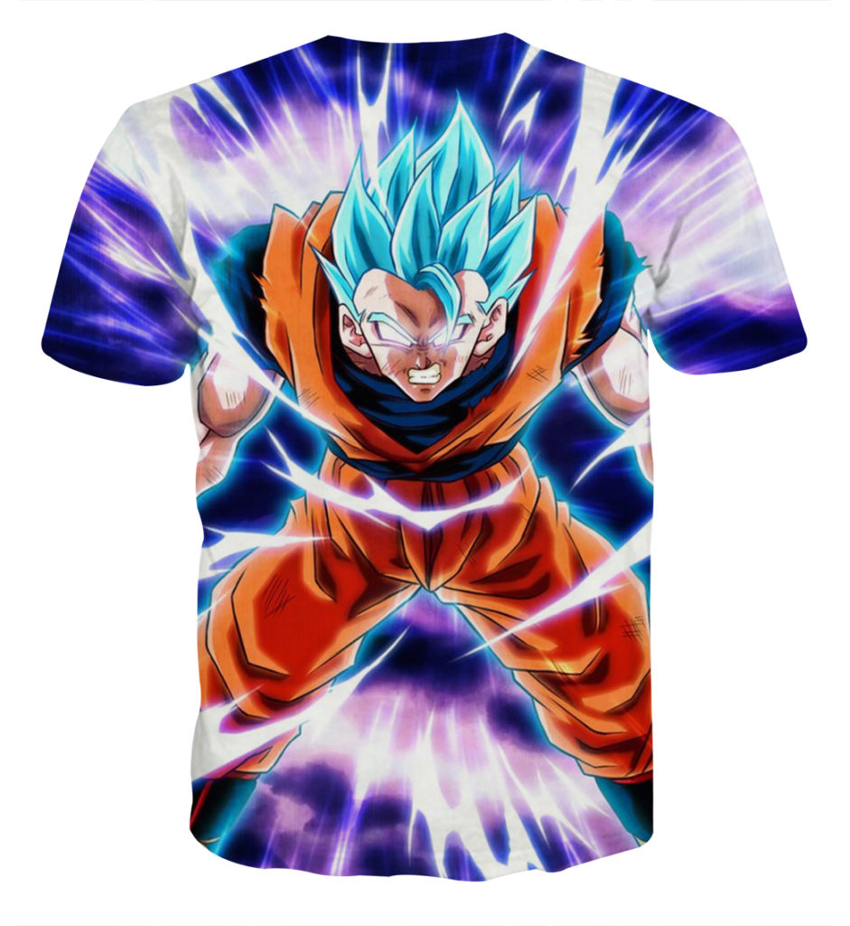 Tee shirt Dragon Ball San Goku God Puissance dos
