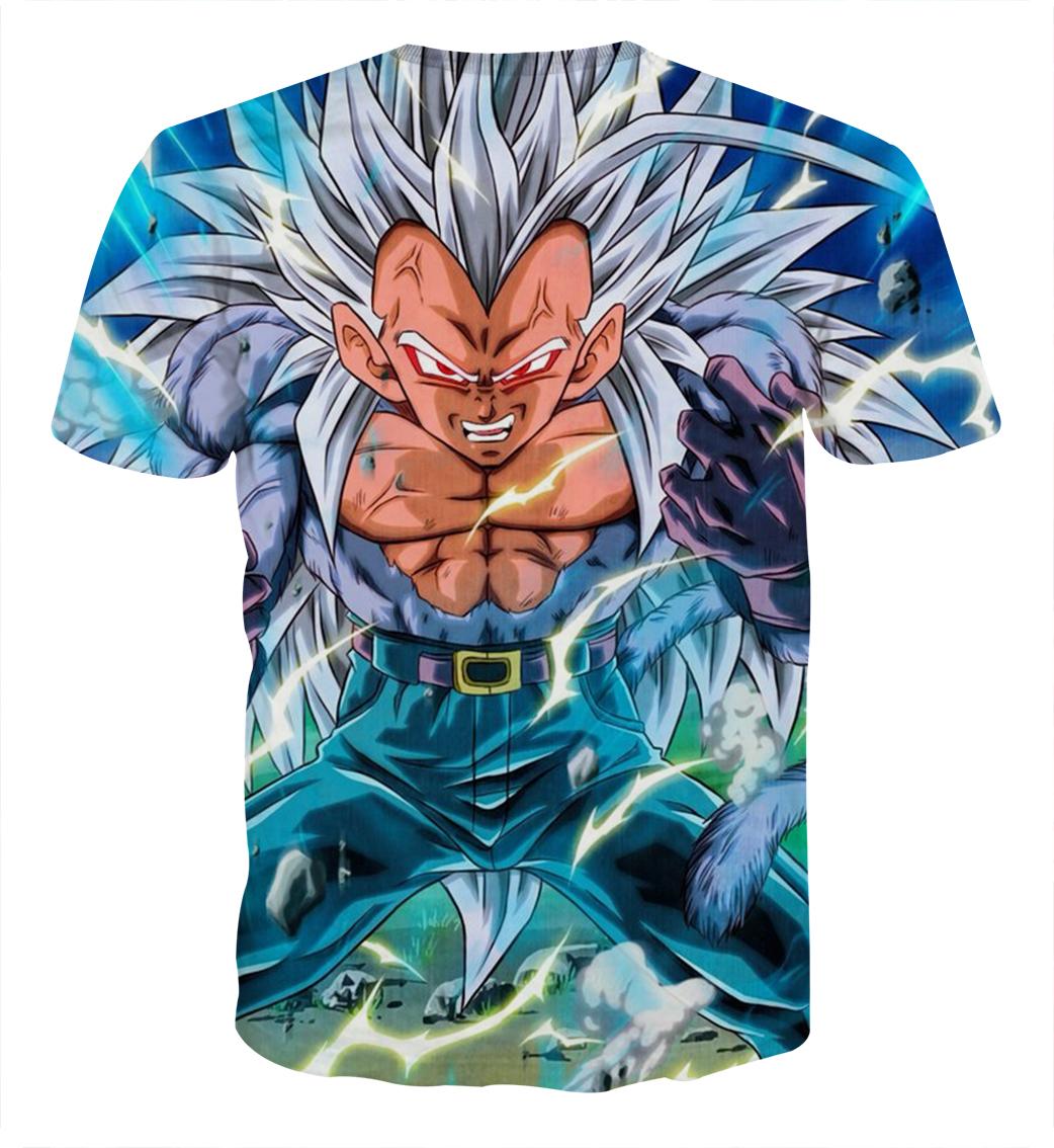 Tee shirt Dragon Ball Vegeta super saiyan 6 dos