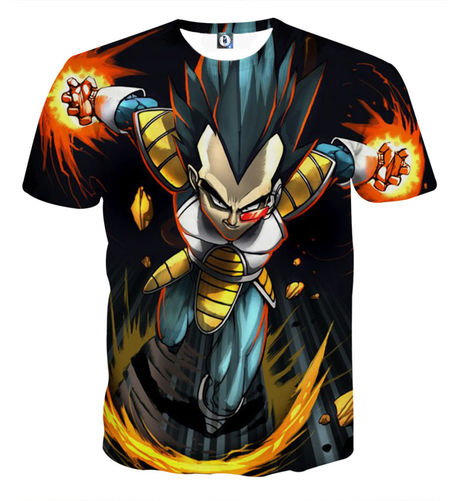 tee shirt dragon ball vegeta prince des saiyans la. Black Bedroom Furniture Sets. Home Design Ideas