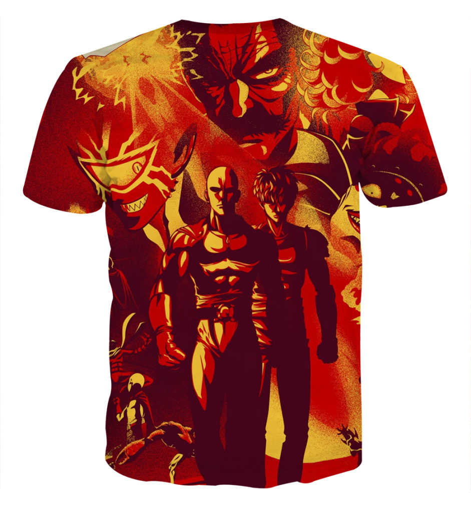 Tee shirt One Punch Man Graffiti dos