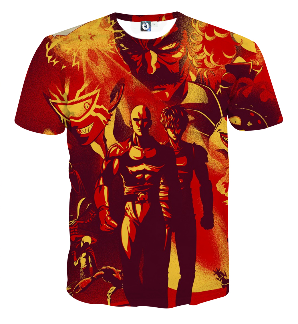Tee shirt One Punch Man Graffiti