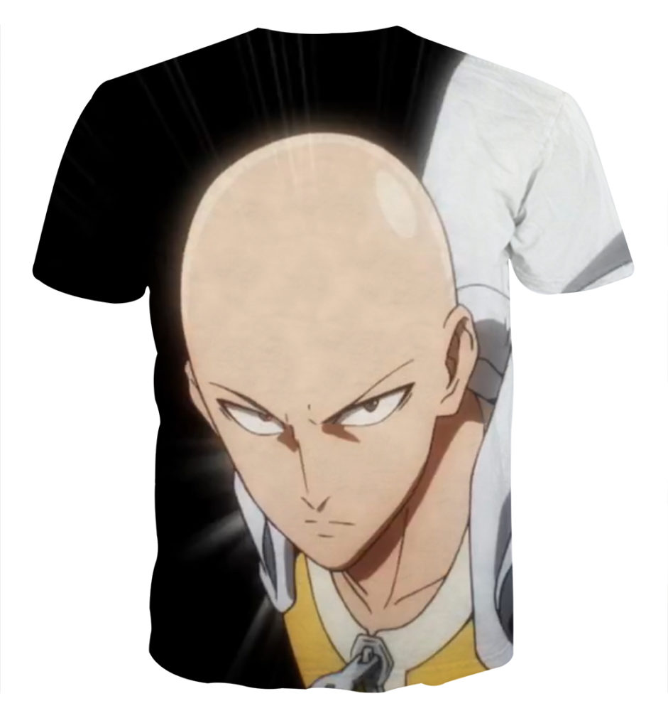 Tee shirt One Punch Man Saitama dos