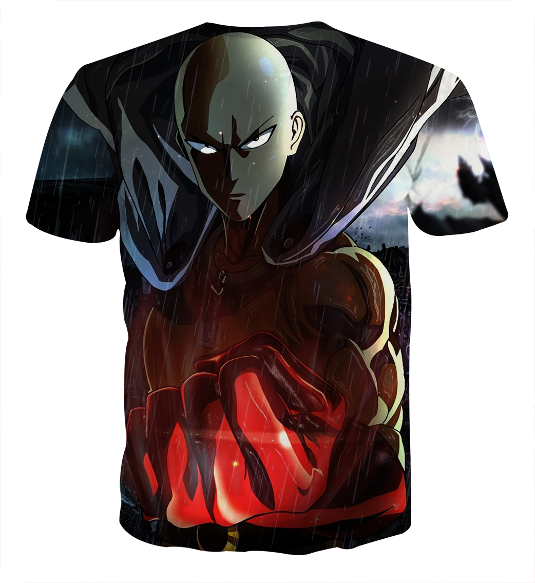 Tee shirt One Punch Man pluie dos