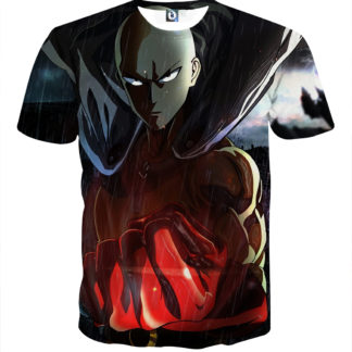 Tee shirt One Punch Man pluie