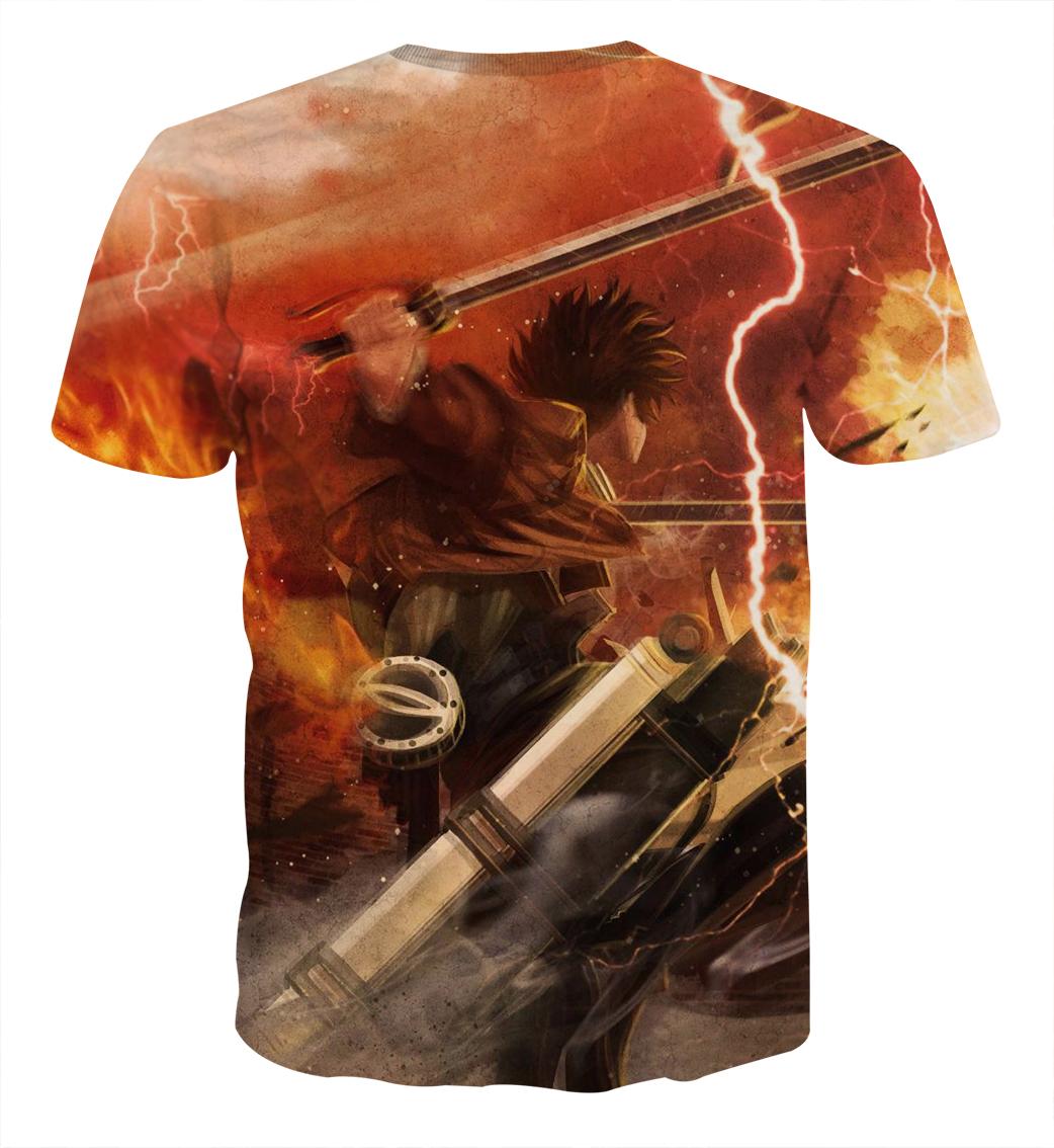 Tee shirt Attaque des titans défense dos