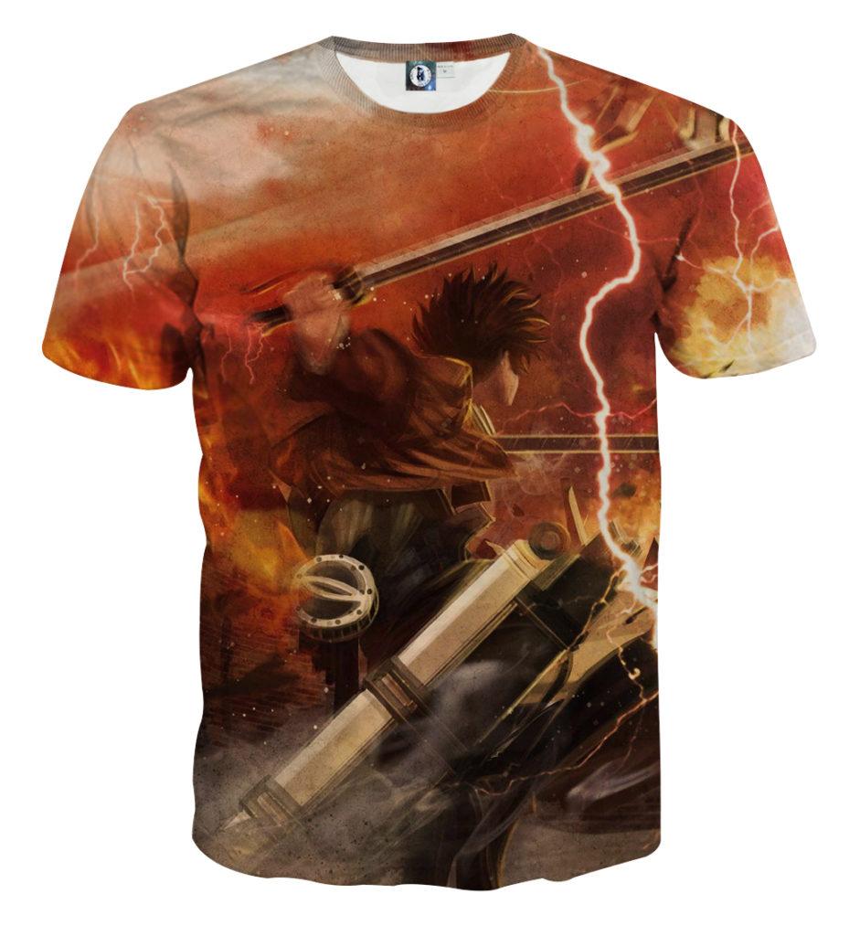 Tee shirt Attaque des titans défense