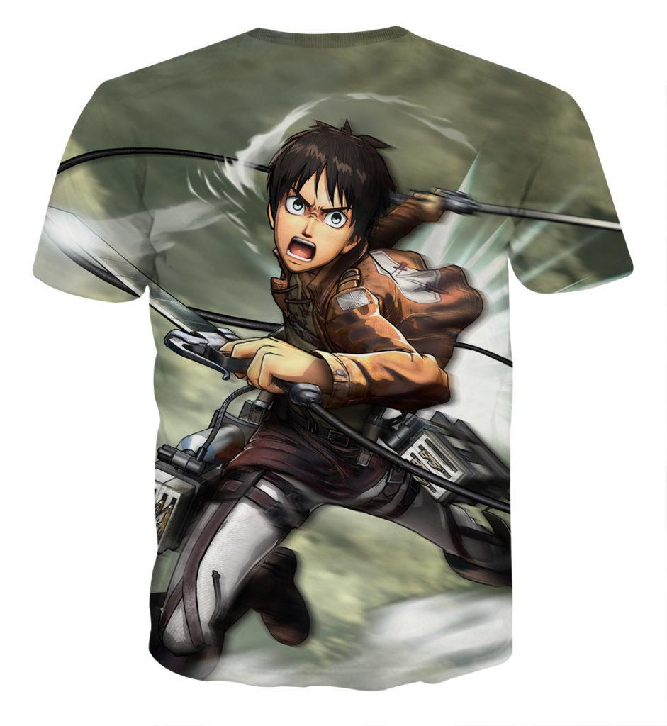 Tee shirt Attaque des titans Eren attaque dos