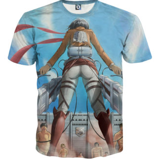 Tee shirt Attaque des titans face à face