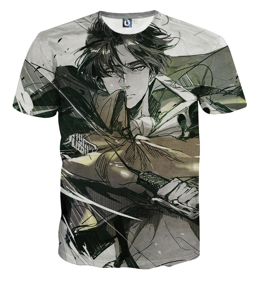 Tee shirt Attaque des titans grâce