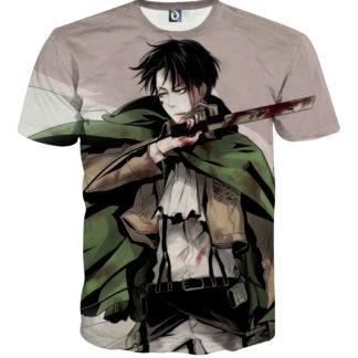 Tee shirt Attaque des titans héros