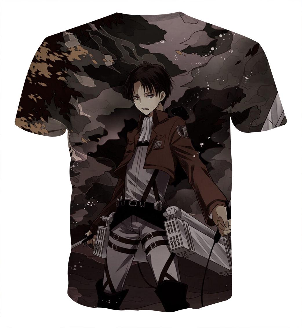 Tee shirt Attaque des titans militaire dos