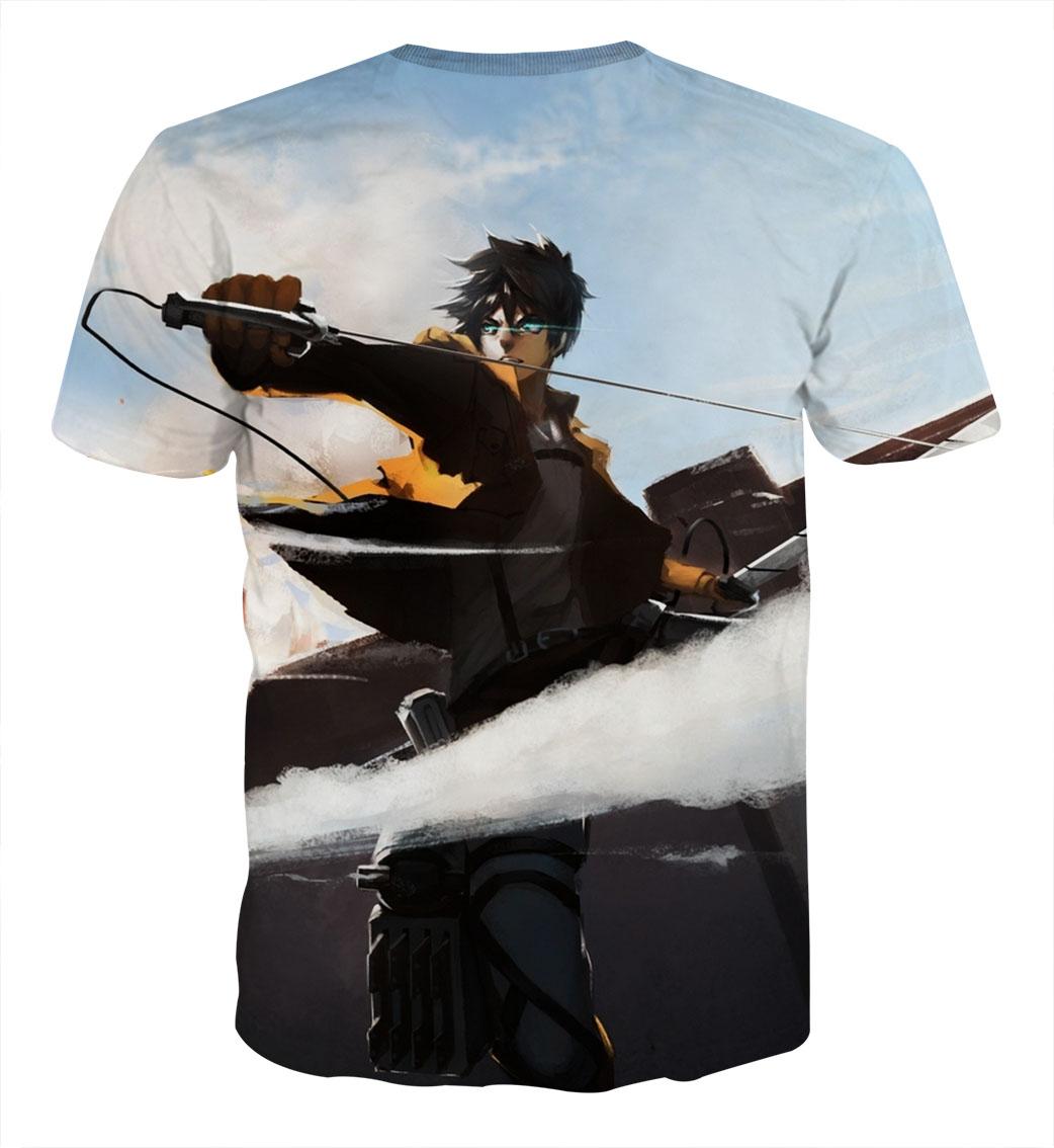 Tee shirt Attaque des titans Détermination dos