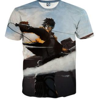 Tee shirt Attaque des titans Détermination