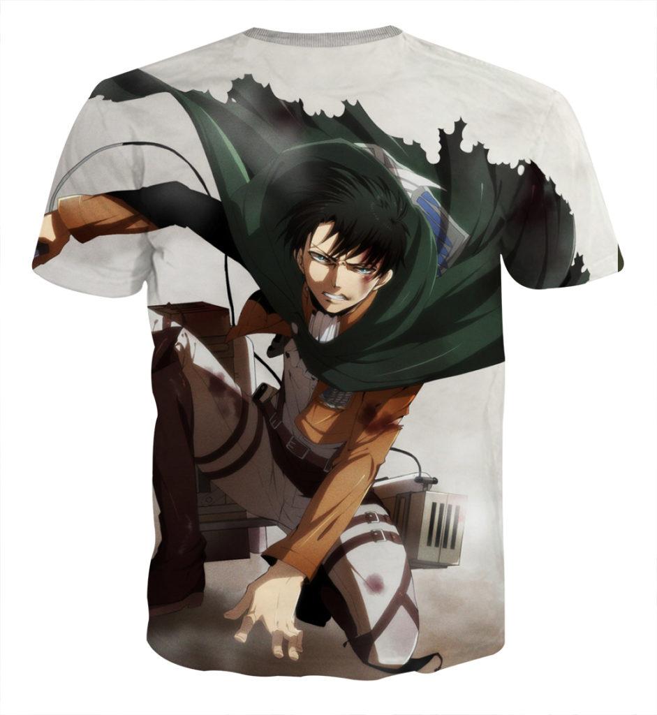 Tee shirt Attaque des titans logo roulade dos