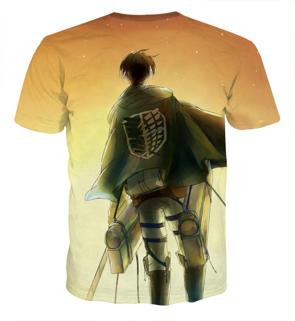 Tee shirt Attaque des titans sur la route dos
